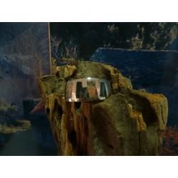 Bague argent massif et mélange de pierres de Corse
