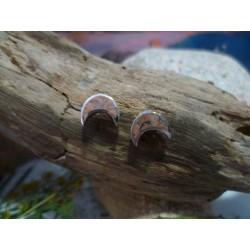 Boucles d'oreille argent massif et Rouge de Porto