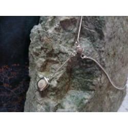 Collier argent massif et mélange de pierres de Corse
