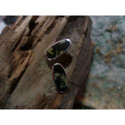Boucles d'oreille argent massif et Verde Stella