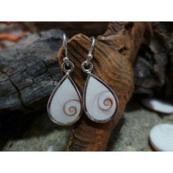 Sterling silver earrings with the true Mediterranean Eye of Saint Lucia
