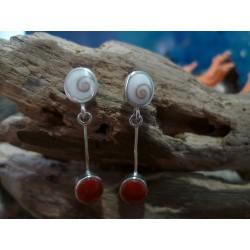 Boucles d'oreille oeil de Sainte Lucie