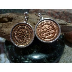 Earrings Corsican coin reproduction