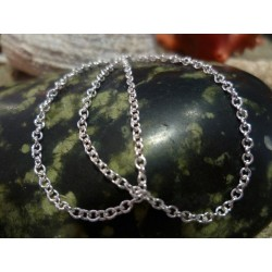 Sterling silver chain necklace 55 cm