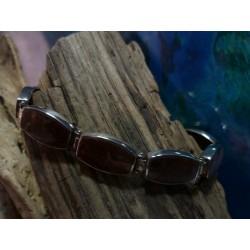 Bracelet argent massif et Rhyolite de l'Argentella