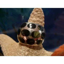 Sterling silver ring with Verde Stella