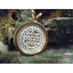 Pendant Corsican coin reproduction