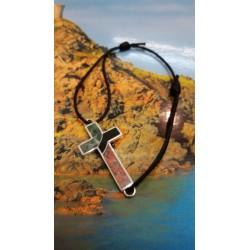 Bracelet argent massif mélange de pierres de Corse