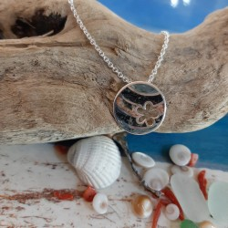 Sterling silver pendant with a mix of Corsican stones