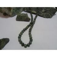 Collier argent massif et Vert d'Orezza
