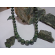 collier vert d'Orezza et argent massif