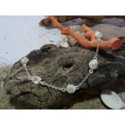 Bracelet oeil de Sainte Lucie et argent massif