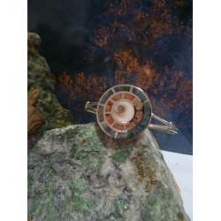 Bracelet argent massif et mélange de pierres de Corse